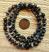 Collier Agate Perles Anciennes Ancient Banded Agate Suleimani Beads Necklace