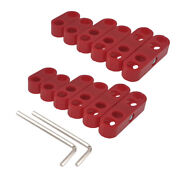 2set 8.5mm 8.8mm 9mm Red Spark Plug Wire Separator Divider Loom Chevy Ford 7343r