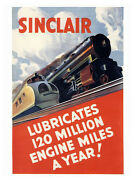 Sinclair Oil 1930s Art Deco Print - Framed And Memo Board Available