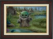 Thomas Kinkade Studios Star Wars Mandalorian Childand039s Play 12x18 Le E/e Canvas