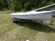1986 Oday Javelin Sail Boat And Trailer 15ft