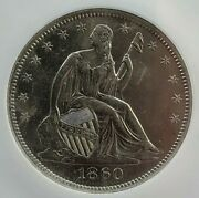 Ss Republicu.s. Issue 1860 O Shipwreck Effect Bau Liberty Seated Half Dollar