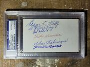 Charlie Gehringer Multi Player Auto Index Card Psa/dna 6 Hall Of Famers