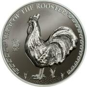 2017 Mongolia 500 Togrog - Year Of The Rooster - 25 G Silver Proof Coin