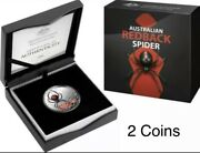 💰2021 2020 Aust. Redback Spider 5 Coloured And 1 1oz.9999 Silver Proof Coins Ra