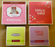 Lot 4 New American Girl Bitty Baby Camping Set Snowy Dreams Strawberry Retired