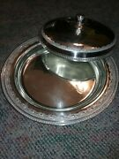Derby Silver Co. Covered Tray 14 Gorgeous Silverplate Roses Bead Not Sterling