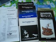 13 Vtg Ward Foundation News Wildfowl Carving Woodcarving Publications Sc Books
