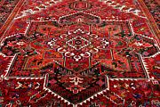 10x13 1940and039s Masterpiece Mint Antique Hand Knotted Herizz Geometric Wool Rug