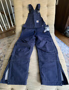 Nwt Navy Blue Carhart Fr Overalls Bibs Size 34x32 Nfpa 2112
