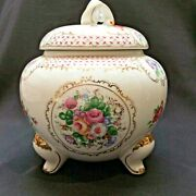 Vintage Hand Painted Porcelain Candy Or Cookie Jar 1898 China Company