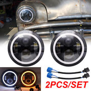 Pair 7 Sealed Beam Led Headlight Lamp For Plymouth 1949-1955 Kenworth T2000