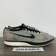 Nike Flyknit Racer Multi Color 2.0 Running Shoes 526628-304 Menand039s Size 12