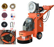 Heavy Duty Electric Concrete Floor Grinder And Polisher With Fan, 14 Disc, 220v