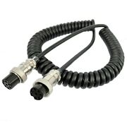 Flexible 8pin Microphone Extension Cable For Yaesu Kenwood Icom Walkie Talkies