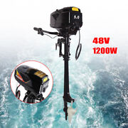 Electric Outboard Motor Trolling Motor Inflatable Fishing Boat Engine 3000rpm Us