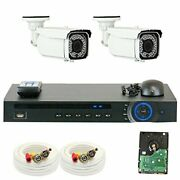 Gw Security Vd2chc25 4 Ch Hd Real-time 30 Fps Dvr 2 X 1/2.8 Inches 2.1 Mp Cam...