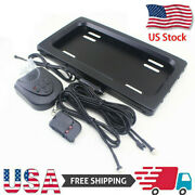 Us Hide-away Shutter Cover Up Electric Stealth License Plate Frame W/ Remote Set