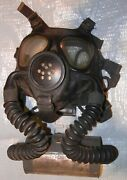 Vintage Gas Mask Usn M2 With Hoses And Canister - No Damage
