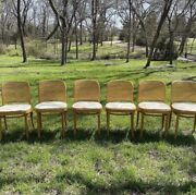 Thonet Cane Back Chairs 6 Mcm Mid Century Modern Rare Collectible
