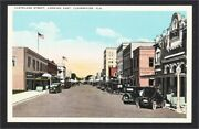Clearwater Fl Cleveland Street With Antique Cars And Stores 1920s Postcard