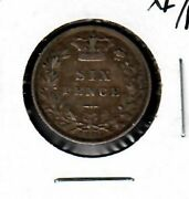 Great Britain 6 Pence 1884 Xf