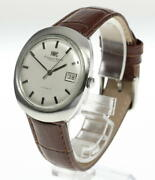 Schaffhausen Date Stainless Silver 35mm Automatic Watch Used Antique Vintage