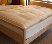 Wool Mattress Topper Eco Chemical Free Usa Thick Bed Topper Hypo Allergenic