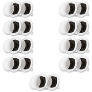 Acoustic Audio R191 Flush Mount In Ceiling Speakers Home Theater 9 Pair Pack