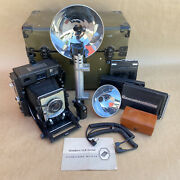 Beseler 4x5 Type C-6 Large Format Us Military Camera W/ 135mm Lens, Case And More