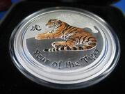 2010 Year Of The Tiger 2oz Silver Coloured Coin. Anda Show Perth 6-7 Feb 2010
