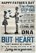 Happy Fatherand039s Day An Amazing Step To My Dad Fatherand039s Day Poster Unframed