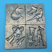 Vintage Toy Story Buzz Thingmaker Molds Set Of 4 • Creepy Crawlers • Toymax 1996