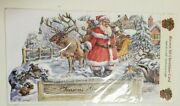 Vintage Style 3-d Christmas Cards With Santa Reindeer And Sleigh