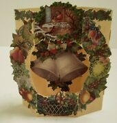 Vintage Style 3-d Christmas Cards Andndash Wreath And Bell