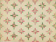 Vintage To Antique Floral Flowers Design Pink Green Yellow Old W/c Art Painting