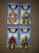 2021 Masters Of The Wwe Universe Set Of 4 Ultimate Warrior Kane Goldberg Steph