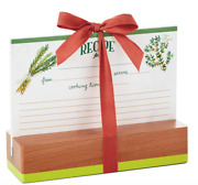 New Hallmark Herbs And Spices 10 Recipe Cards And Wooden Stand Gift Set Sold Out