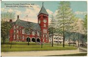Cameron County Court House And Sherriffs Office In Emporium Pa Postcard 1919