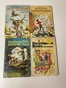 Lot Of 4 Encyclopedia Brown Books By Donald J. Sobol From 60's-70's