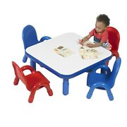 Baseline 30 Sq Kids Table And Chairs Set Homeschool Playroom Toddler Furniture