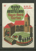 Germany/mainz 1927 House, Hearth And Garden Exhibition Poster Stamp/label