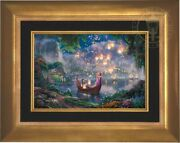 Thomas Kinkade Studios Disneyand039s Tangled 12 X 18 Le E/e Canvas Framed