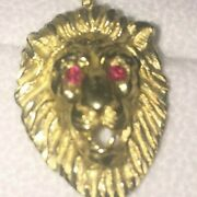 14kt Gold Lion Head, Used But Quite Beautiful