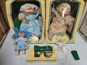 Vintage Lot 1985-2 Cabbage Patch Kids Preemie Coleco 3870. With Sewing Machine