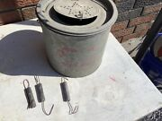 Vintage Minnow Bucket- Mermaid- With 3 Large Fishing Weighs- Used See Pics