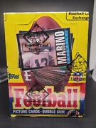 1985 Topps Football Sealed Box - Bbce Authenticated Non X Out Marino Box Bottom