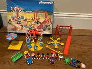 Vintage Playmobil Play Ground Equipment Merry Go Round Swing Set 3223 Incomplete