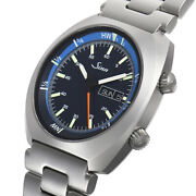 Sinn 240.st.gz Menand039s Automatic Watch Blue Round Dial Ss Belt Case 43.0 Mm