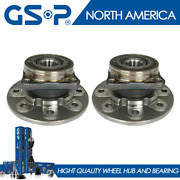 2 New Front Wheel Hub And Bearing Assembly For 94-99 Ram 2500 4wd 8-lug Dana 60